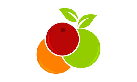 Fruit Mix Logo Design Template Vector