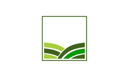 緑のプロジェクト ソリューション センター アイコン ロゴ ベクトル イラスト。