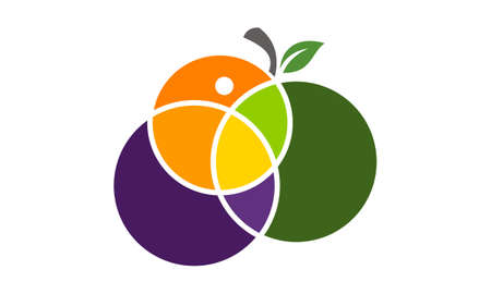 Fruit Mix Logo Design Template Vector
