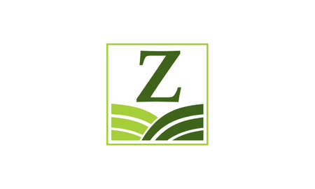 Green project solution centre z z logo vector illustration Banque d'images - 91451726