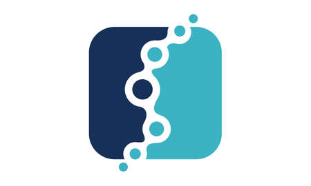 Fluid Chiropractic icon Design Template Vector