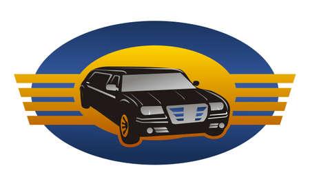 Car plane service tour travel  icon, vector illustration.