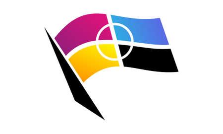Flag of CMYK printing Ilustração