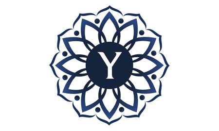 Flower Elegance Initial Y icon logo Vector illustration. Vettoriali