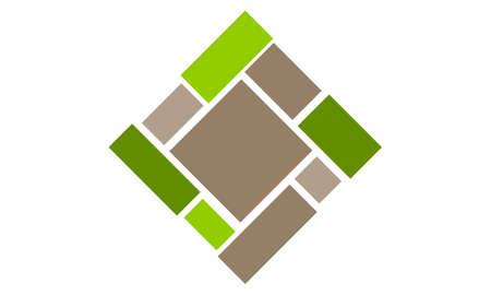 Flooring Bamboo Quality icon logo Vector illustration.
