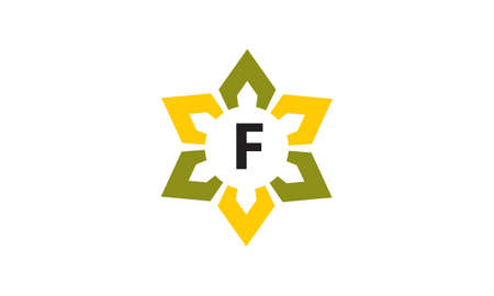 Flower Infinity Letter F icon logo Vector illustration.