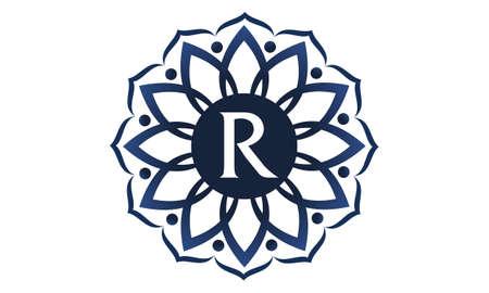 Fleur elegance r logo r Banque d'images - 91671213