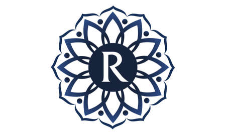 Flower Elegance Initial R logo