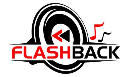 Ilustração video audio do vetor do logotipo do ícone da produção do serviço.