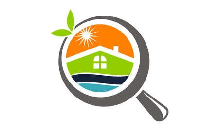 Fresh Home Searching icon logo Vector illustration.