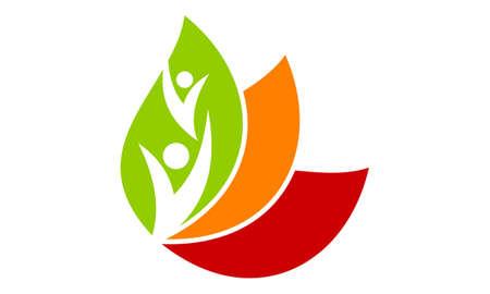 Eco Energy Community icon logo Vector illustration.