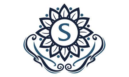 Flower Elegance Initial S logo