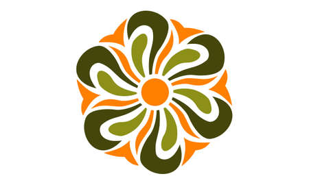 Abstract Flower Infinity icon logo Vector illustration.