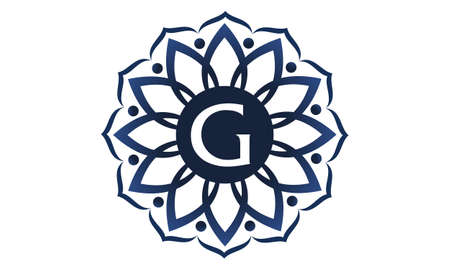 Flower Elegance Initial G symbol template design.