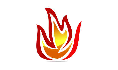 Fire symbol template design. Illustration