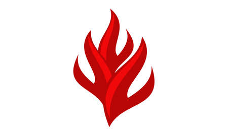 Fire Logo Design Template Vector Illustration