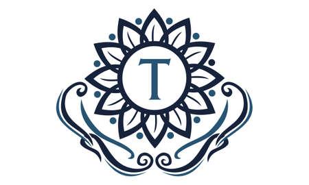 Flower Elegance Initial T logo
