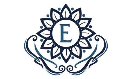 Flower Elegance Initial E logo