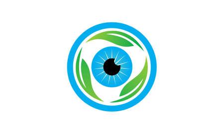 Eye Care Leaf logo