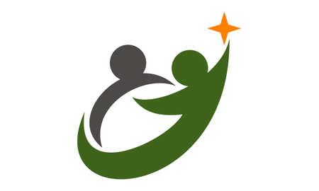 Business Success Life Coaching logo  イラスト・ベクター素材
