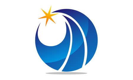 Finance Insurance Service logo design Illustration