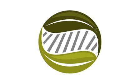 Eco Technology Logo Design Template Vector