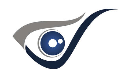 Eye Care Logo Design Template Vector  イラスト・ベクター素材