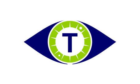 Eye Care Solutions Letter T logo