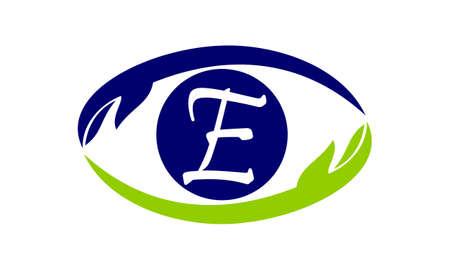 Eye Care Solutions Letter E Illustration