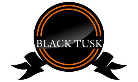 Black Tusk emblem design illustration.