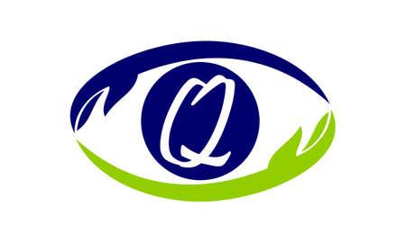 Eye Care Solutions Letter Q Illustration