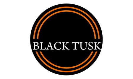 Template Emblem Blank Black Tusk