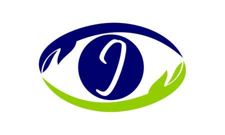 Eye Care Solutions Letter J Illustration