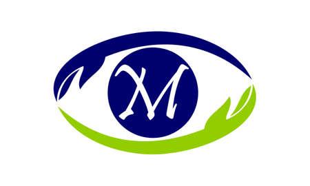 Eye Care Solutions Letter M Illustration
