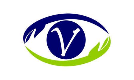 Eye Care Solutions Letter V