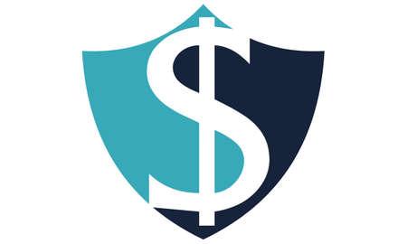 Modern icon Shield Letter Dollar Stock Vector - 91720075
