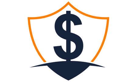 Modern icon Shield Letter Dollar Stock Vector - 91720175
