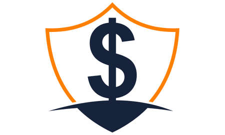 Modern icon Shield Letter Dollar