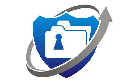 Data protection concept Stock Illustratie