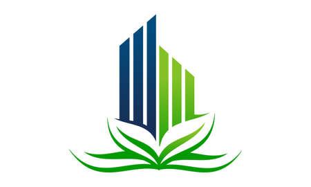 Eco Building Logo Design Template Vector