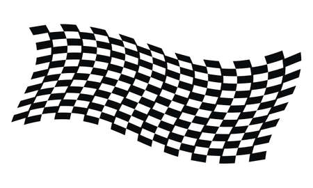 Dynamic Racing Flag Illustration