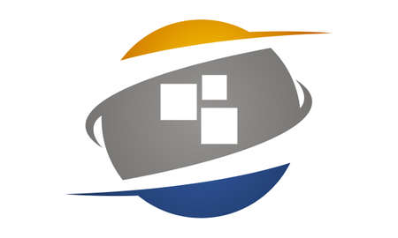 Technology Transfer icon illustration. Illustration