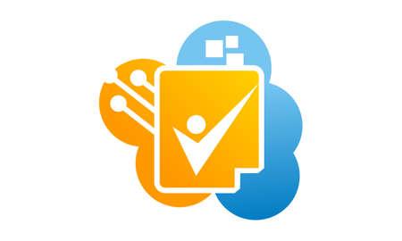 Digital file icon illustration.