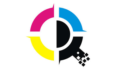 Digital printing symbol icon design. 向量圖像