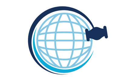 Global Online Auction icon design.