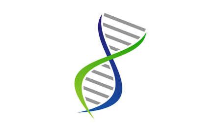 DNA genetics icon design.