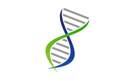 DNA genetics icon design. Illustration