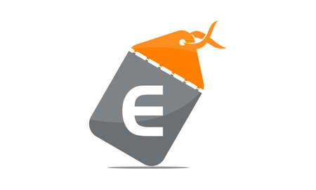 Discount Shop Initial E icon design. 일러스트