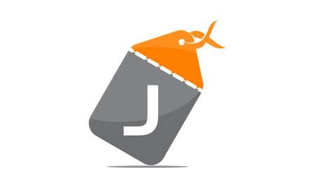 Discount Shop Initial J icon design.