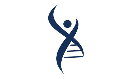 Human DNA icon design.